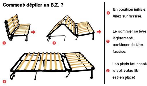 canape bz sans matelas maison mobilier jardin. Black Bedroom Furniture Sets. Home Design Ideas