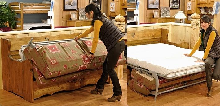 taille 40 60fd0 c0e6a Canapé lit style montagne - Maison mobilier jardin