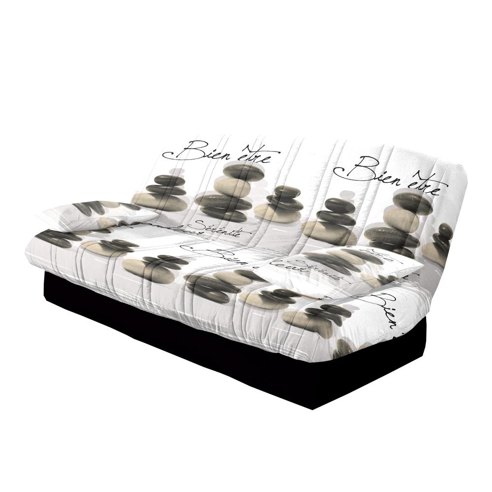 Recouvrir un canape clic clac maison mobilier jardin for Housse de canape clic clac avec accoudoir