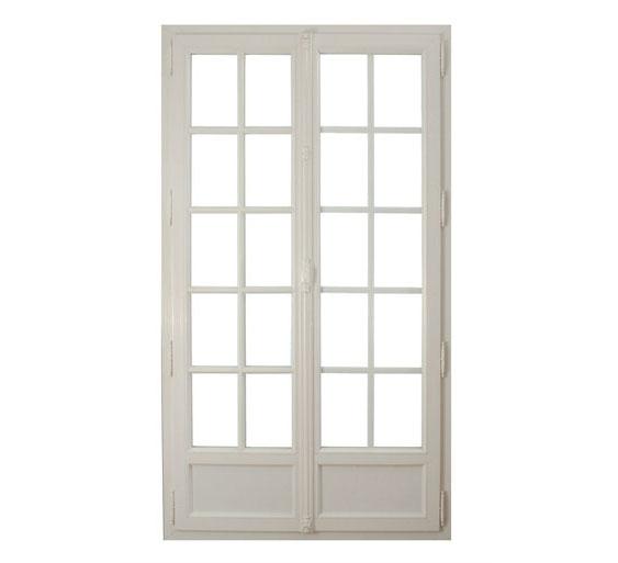 Fenetre pvc imitation bois blanc maison mobilier jardin Fenetre pvc imitation bois